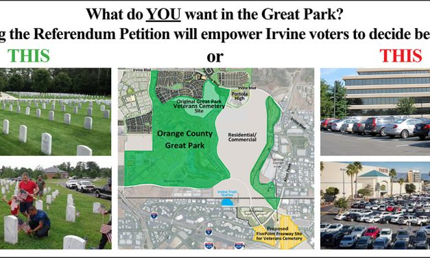 CityWatch (November) by Larry Agran: Save the Great Park Veterans Cemetery and Say NO to FivePoint's Development Scheme
