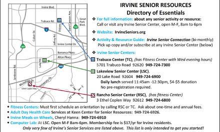 Senior Life — Youthful Lifestyle: Irvine's Remarkably Wide Variety of Senior Services