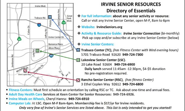 Senior Life — Youthful Lifestyle: Irvine's Remarkably Wide Variety of Senior Services