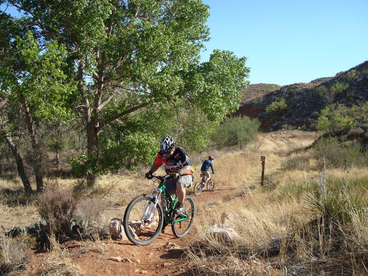 Slow-Paced Mountain Bike Ride