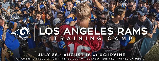 LA Rams Training Camp at UCI
